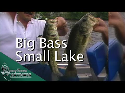 Big Bass In Small Lake In Iowa. 1988