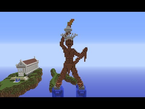 Minecraft Colossus of Rhodes Statue: Building with Optical Creeper Episode 2