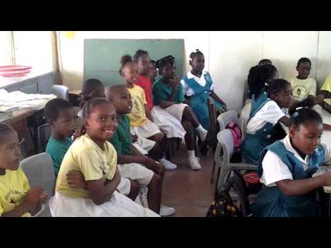 Football Club President visits Primary School