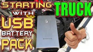 Video Jump Starting Car Battery with USB Battery Pack! download MP3, 3GP, MP4, WEBM, AVI, FLV Juli 2018