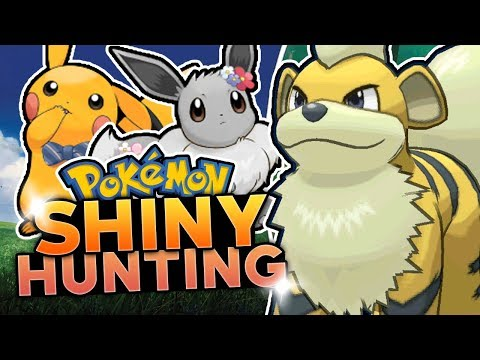 SHINY GROWLITHE HUNTING! Pokemon Lets Go Pikachu & Lets Go Eevee Shiny Hunting