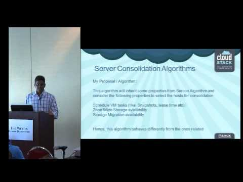 Automatic Workload Management in Clusters Managed by CloudStack