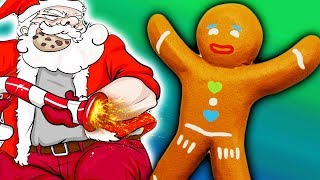 ПЕЧЕНЮХИ против САНТА КЛАУСА в веселом развлекательном видео для детей мультик игра ФГТВ