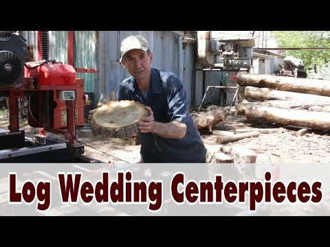 Log Chargers Wedding Centerpieces