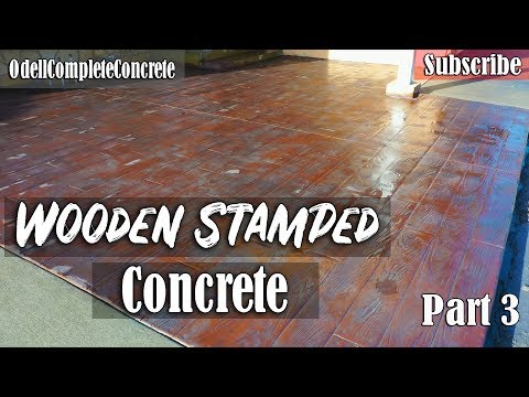 How to Pour a Wooden Stamped Concrete Patio & Sand Wash Finished Driveway Part 3 Mp3