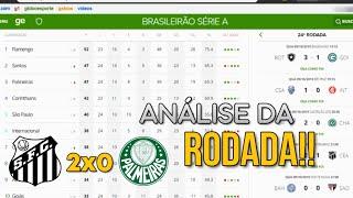 Globo Esporte SP   Santos 2x0 Palmeiras   3ª vitória seguida e vice colocação   Brasileirão 2019
