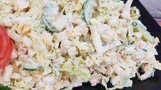 видео 6 салатов с пекинской капустой