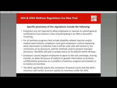 ADA & GINA Wellness Regulations Are Now Final
