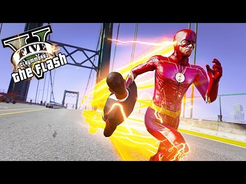 The Flash Saves People From Falling! Bridge Attack (GTA 5 Flash Mod)