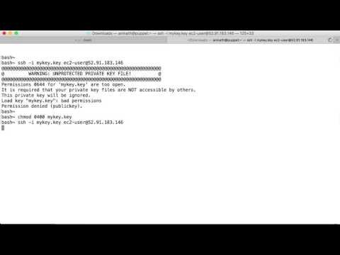 ssh error: unprotected Private Key File - YouTube