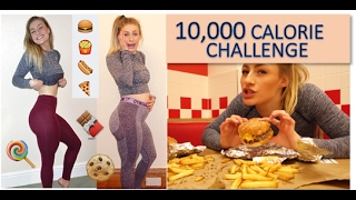 One of BusybeeCarys's most viewed videos: 10,000 Calorie Challenge | Girl VS Food | EPIC cheat day!!!
