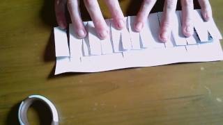 cutting paper into a continuous strip