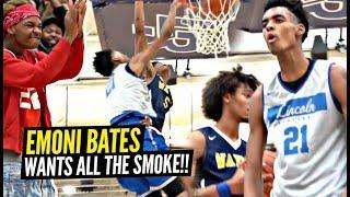 Emoni Bates Wants ALL THE SMOKE!! Dunks ON DEFENDER'S HEAD & FLEXES!