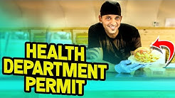 Filing a Temporary Food Permit Form from the Health Department!