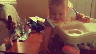 Rottweiler Eats Baby's Snacks