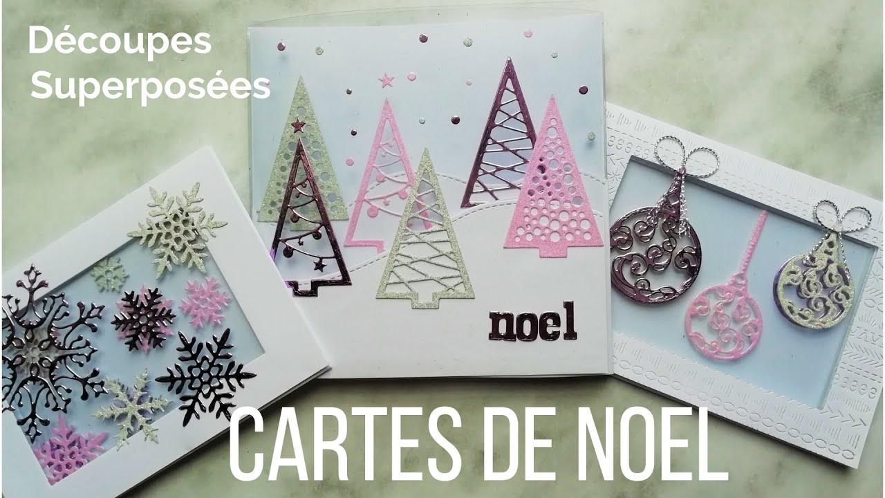 Surréaliste Tuto Scrapbooking - Carterie - Cartes de Noel Découpes superposées CR-67