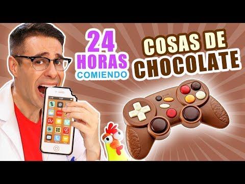 24 HORAS COMIENDO COSAS DE CHOCOLATE RETO Comiendo Marrón   El Gallinero De Mike