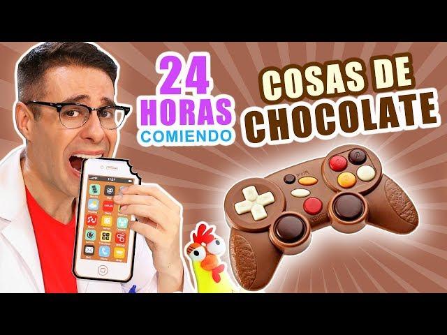 24 HORAS COMIENDO COSAS DE CHOCOLATE RETO El Gallinero de Mike