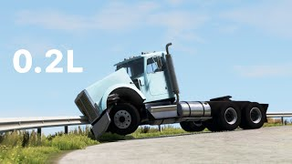 BeamNG Drive - But Every Time I Crash The Gavril T-Series, The Engine Gets Smaller