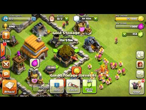 Clash Of Clans Upgrading Level 8 Gold Storage