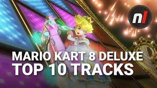 Top Ten Best Mario Kart 8 Deluxe Tracks with Arekkz Gaming