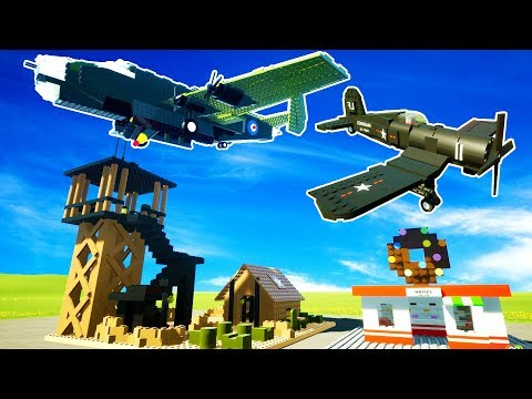 BOMBING AN ANTI-AIR MILITARY BASE! AIR vs GROUND CHALLENGE! - Brick Rigs Multiplayer Gameplay