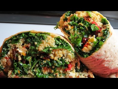 Fully Loaded Easy Raw Kale Wraps ** This wrap contains honey & cheese. ** Not  vegan **