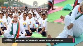 PM Modi Leads Yoga Day Celebration at Rajpath, India Sets Two World Records