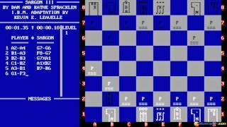 Sargon III gameplay (PC Game, 1983)