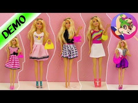 5 новых нарядов для Барби |Переодевалки для куклы Барби |Какой наряд лучше? ТОП 5 платьев для Barbie