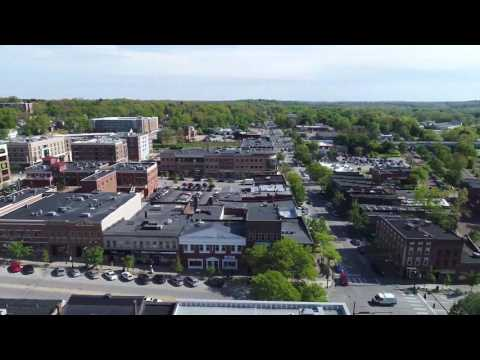 Downtown Kent, Ohio Fly Over 4K Drone