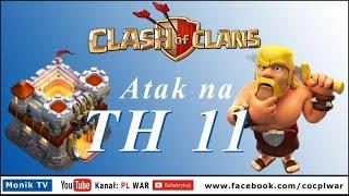 Clash of Clans PL WAR - TH11 Eagle Artillery, Grand Warden, Atak na nr 2 w wojnie GOWIWI