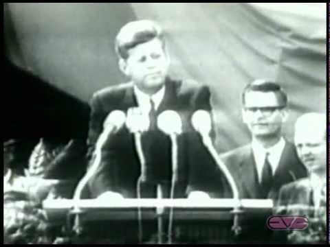 "President John F. Kennedy ""I Am a Berliner"" Speech at Berlin Wall"