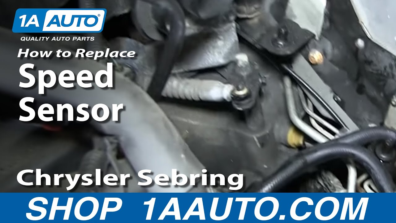 How to Replace Speed Sensor 9510 Chrysler Sebring  YouTube