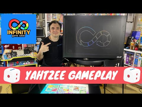 Infinity Game Table by Arcade1Up - Gameplay Showcase - Yahtzee Digital Board Game from UrGamingTechie