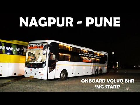 NAGPUR To PUNE : Orange Travels Volvo B11R MG Starz Sleeper Full Journey Compilation