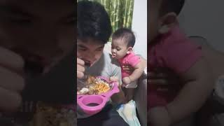 Funny video baby want to eat something