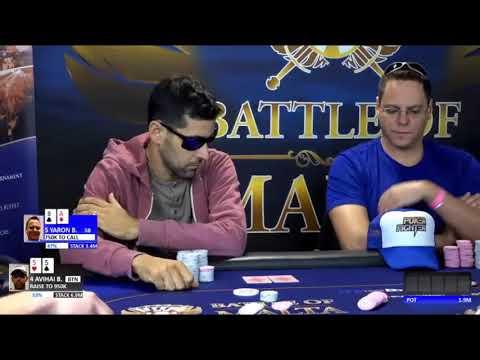 Battle of Malta 2017 Main Event Final Table - H21 Avihai D 55 opens instead of shove sound