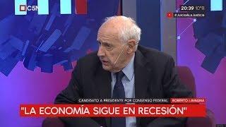 Entrevista al precandidato presidencial Roberto Lavagna en Minuto Uno con Gustavo Sylvestre