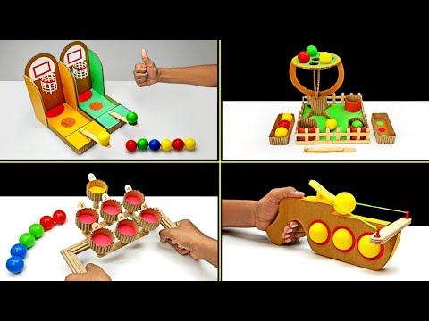 TOP 4 Amazing Diy Ping Pong Ball Games From Cardboard