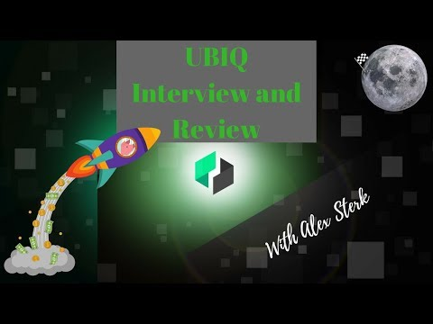 UBIQ Interview and Review with Community Coordinator Alex Sterk ! $UBQ