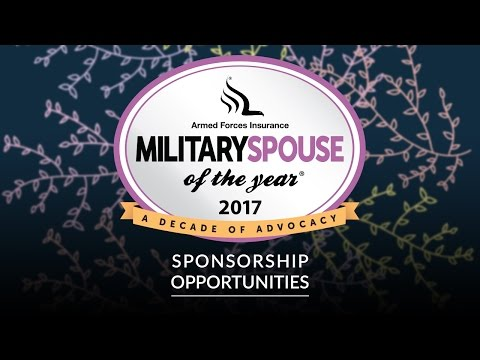 The 10th Annual Armed Forces Insurance Military Spouse of the Year & Town Hall 2017