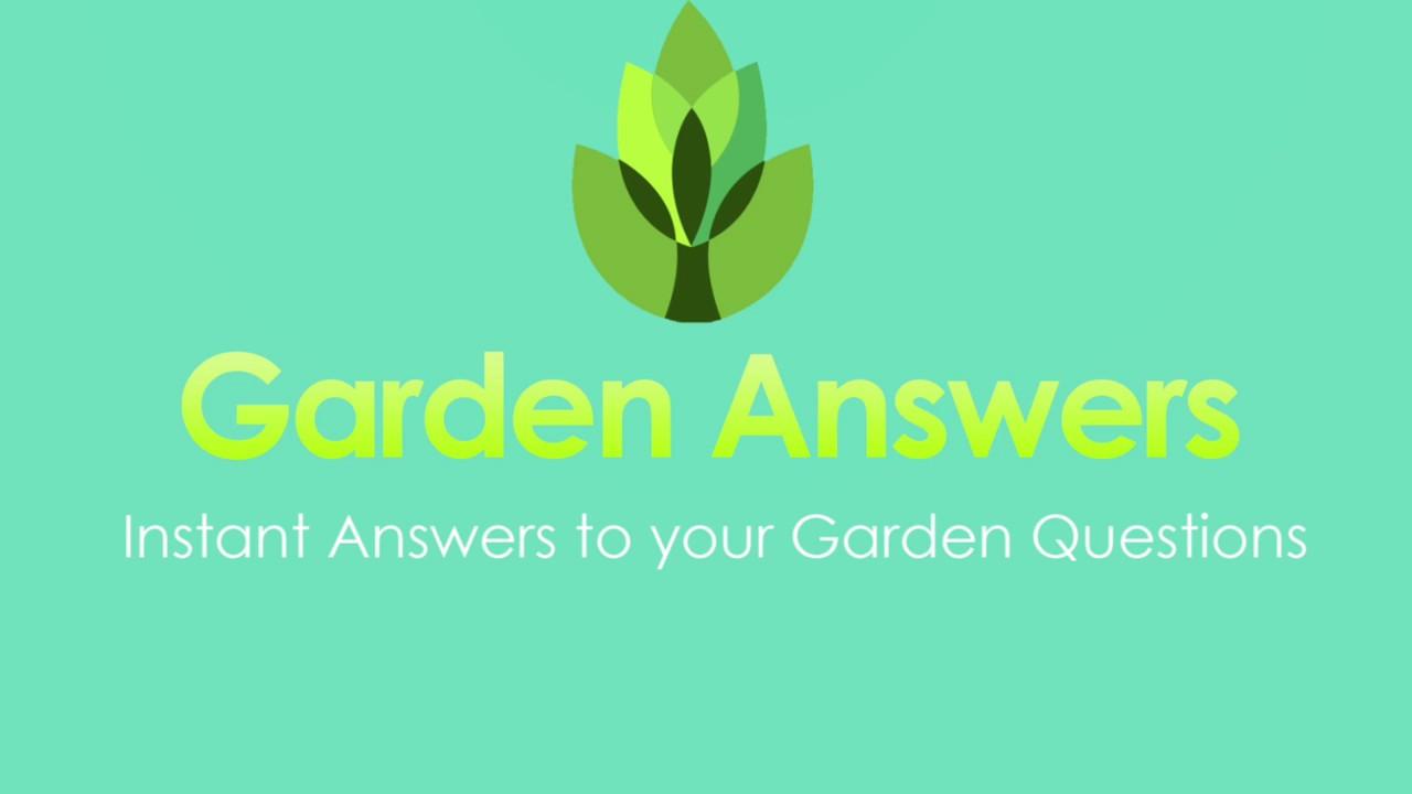 Faq Garden Answers