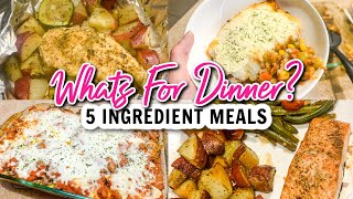 5 INGREDIENT DINNER IDEAS! WHĄTS FOR DINNER? EASY WEENIGHT MEALS FALL