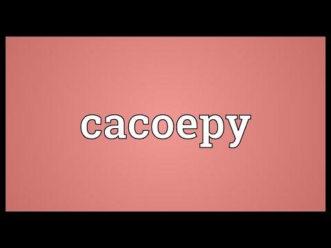 Header of cacoepy