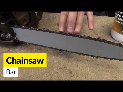 How to fit a replacement chainsaw bar