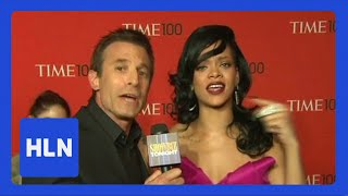 Rihanna shows AJ Hammer how to pronounce her name.