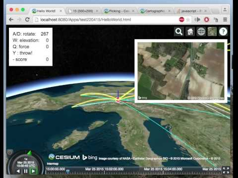 Cesium browsing + display of static map