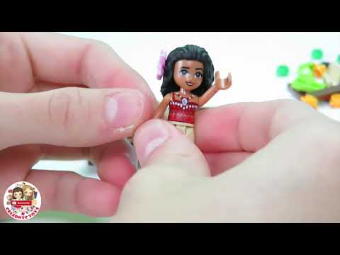 LEGO DISNEY MOANA 's Ocean Voyage build set Time Lapse review 41150 | Maui Te Fiti Oceania