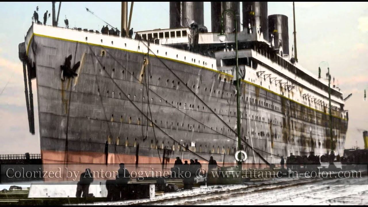 A Color Story Of The Rms Titanic Youtube